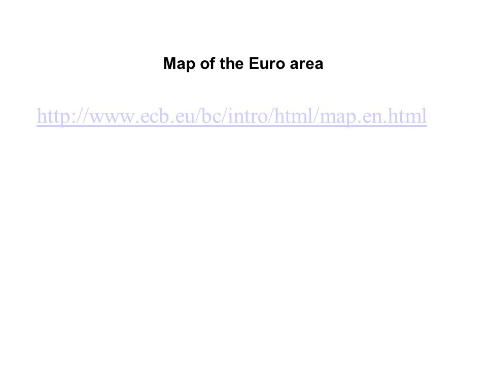 Map of the Euro area