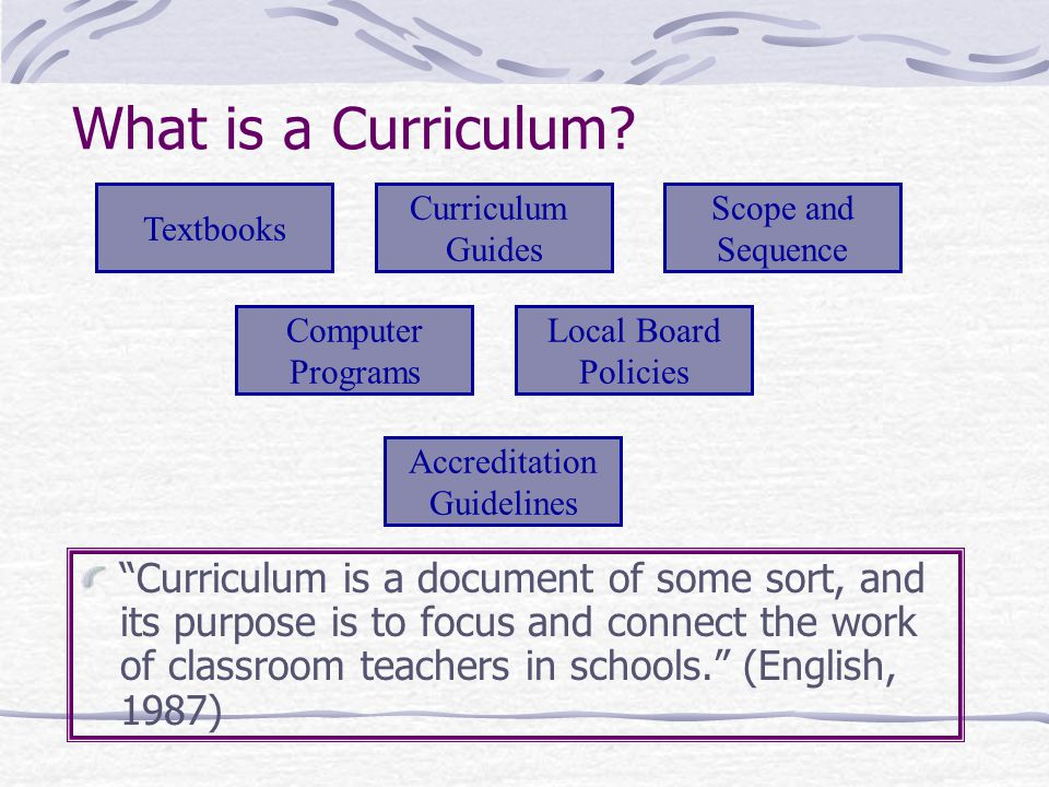 Objectives of the Day Use an analogy to investigate curriculum alignment Define alignment of curriculum.
