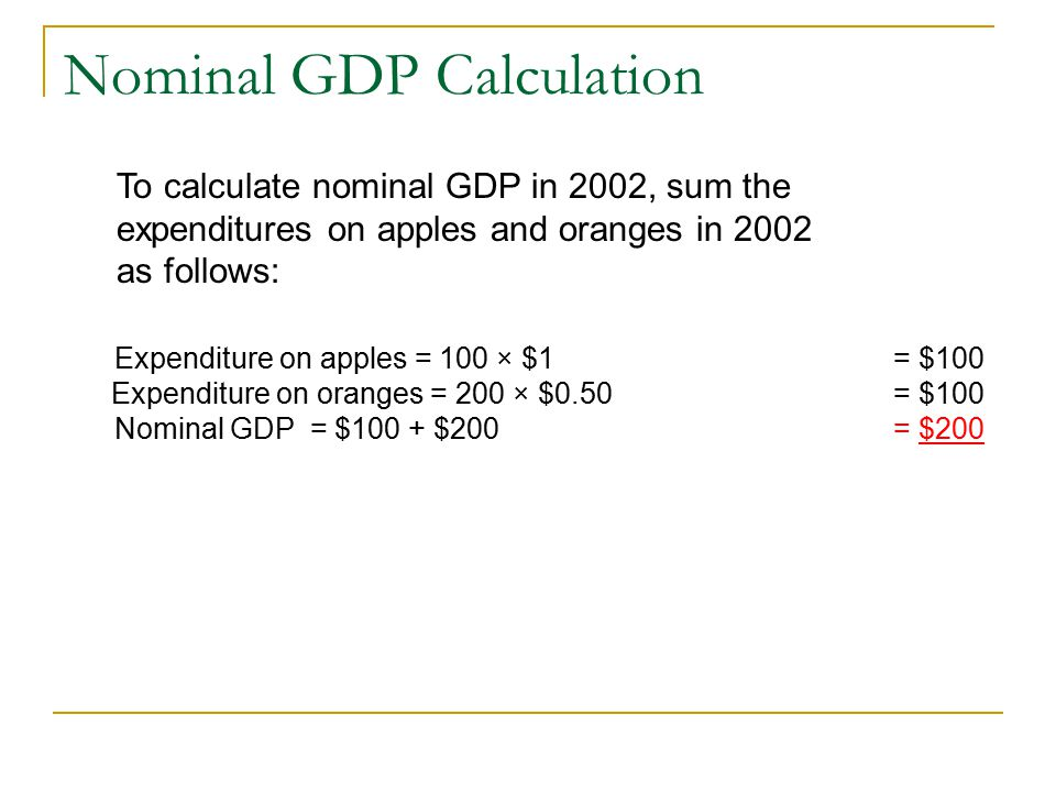 Real versus Nominal GDP We use money to measure the market value of new goods and services produced produced in the economy.