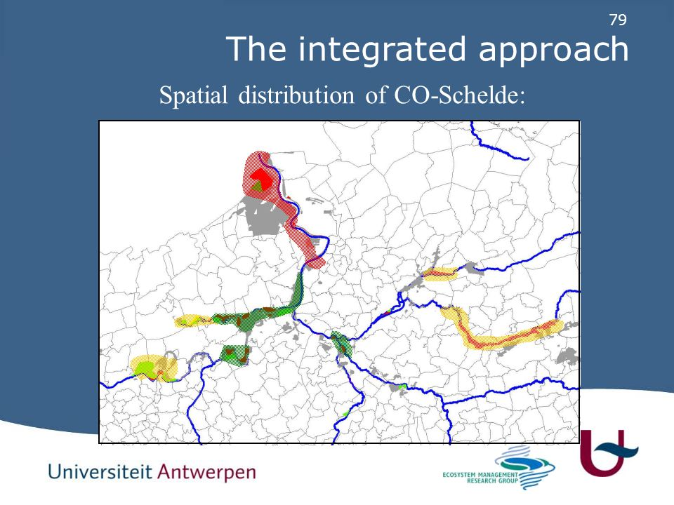 79 Spatial distribution of CO-Schelde: The integrated approach