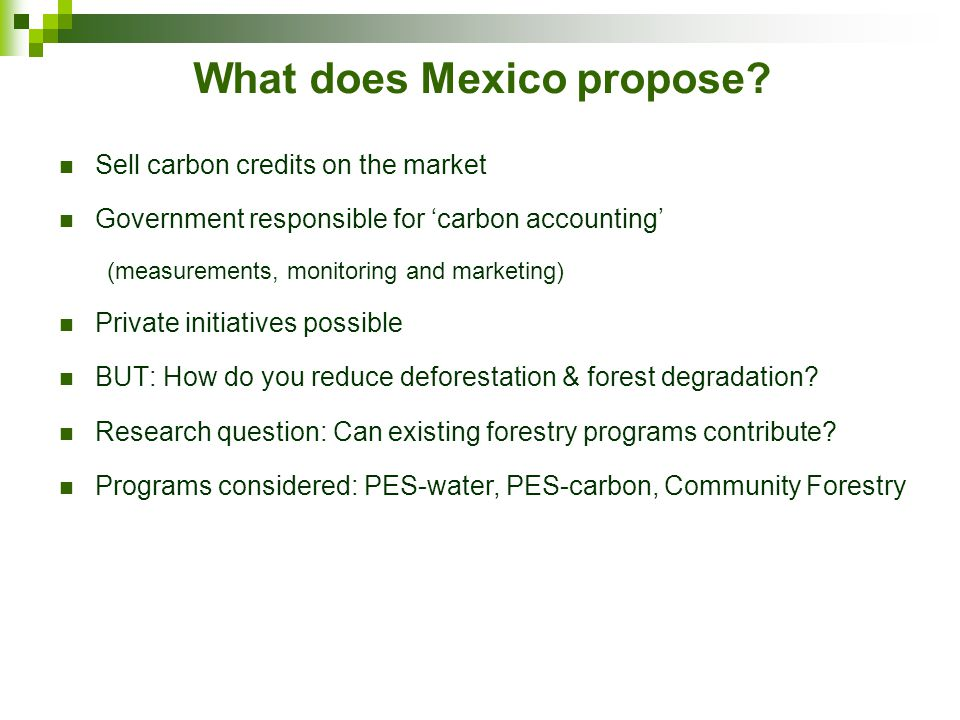 What does Mexico propose.