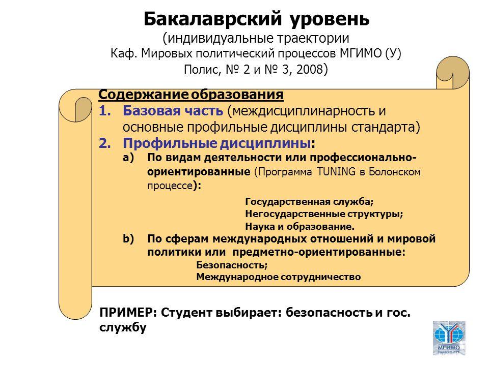 5 Бакалаврский уровень (индивидуальные траектории Каф.