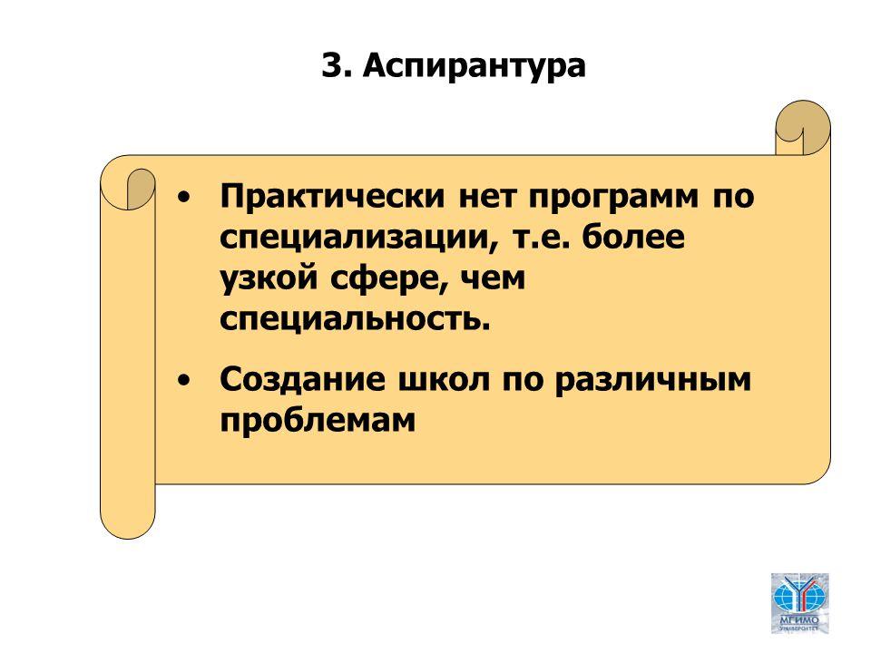 9 Практически нет программ по специализации, т.е. более узкой сфере, чем специальность.
