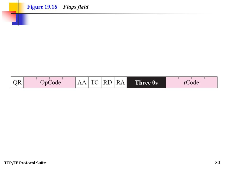 TCP/IP Protocol Suite 30 Figure Flags field