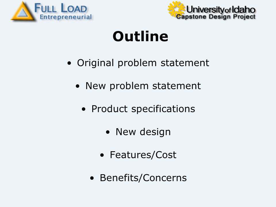 problem statement a new product
