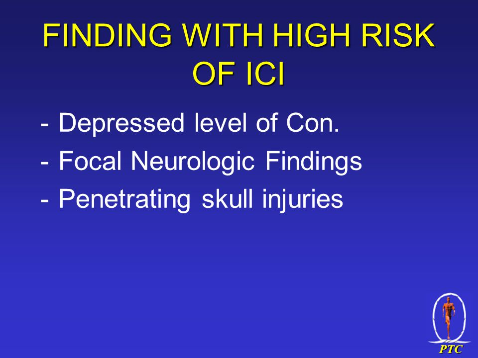 PTC FINDING WITH HIGH RISK OF ICI -Depressed level of Con.