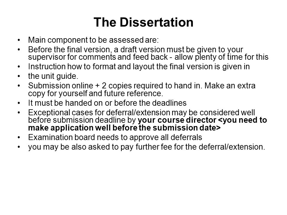 How To Write An Undergraduate Dissertation