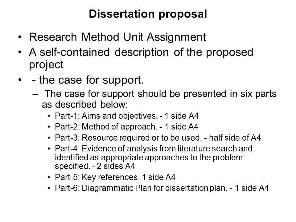 Dissertation proposal research methods