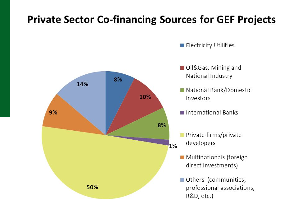 Private Sector Co-financing Sources for GEF Projects