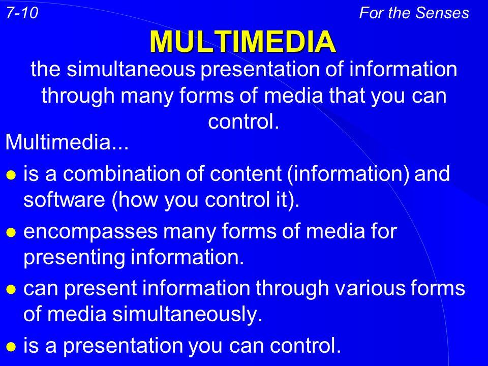 MULTIMEDIA Multimedia...