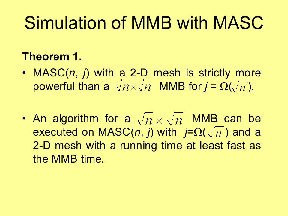 Simulation of MMB with MASC Theorem 1.