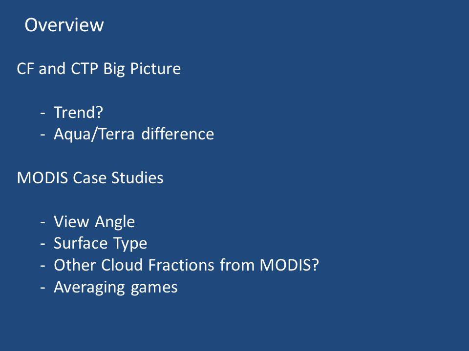 Overview CF and CTP Big Picture - Trend.