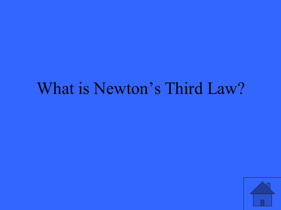 What is Newton's Third Law