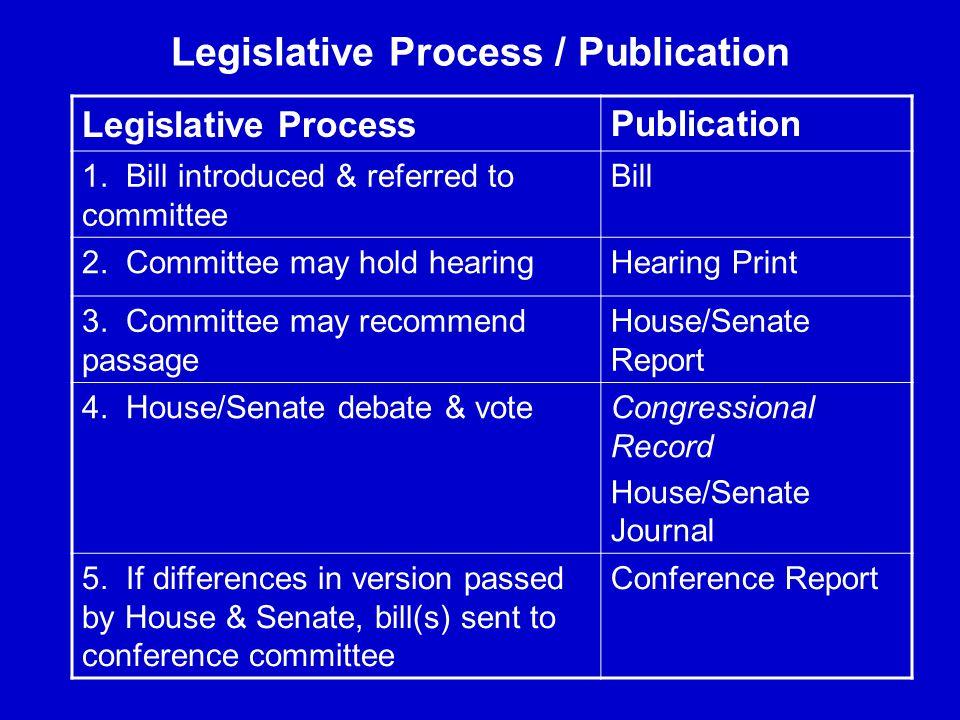 Legislative Process / Publication Legislative Process Publication 1.