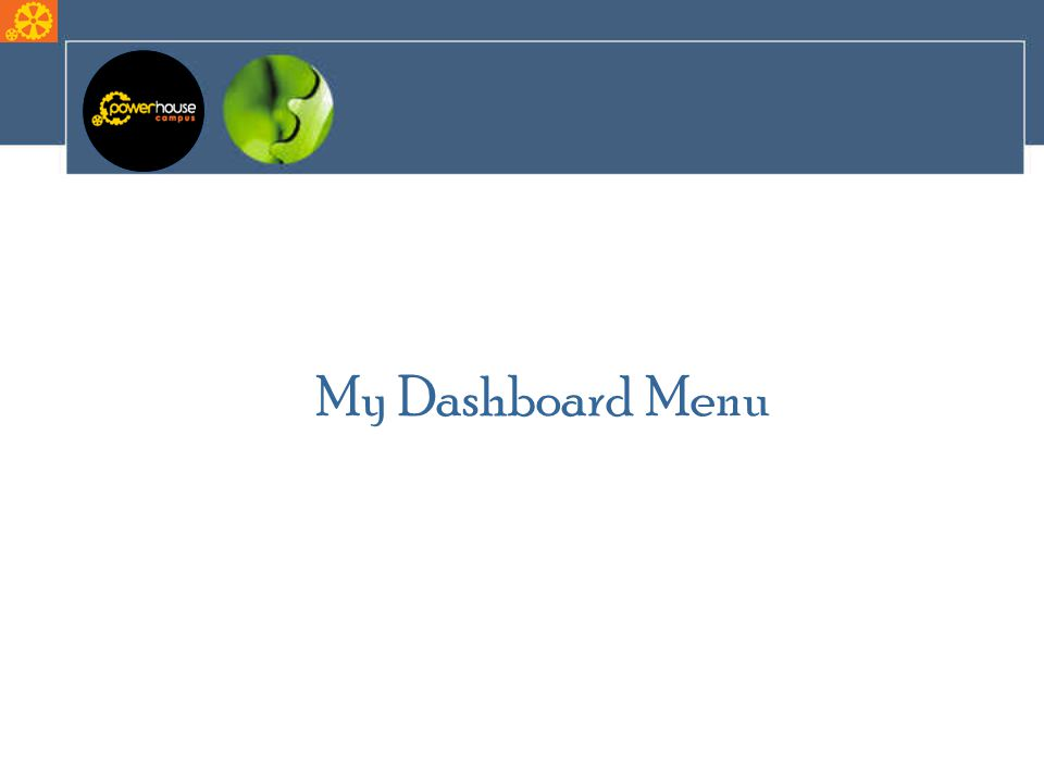 My Dashboard Menu
