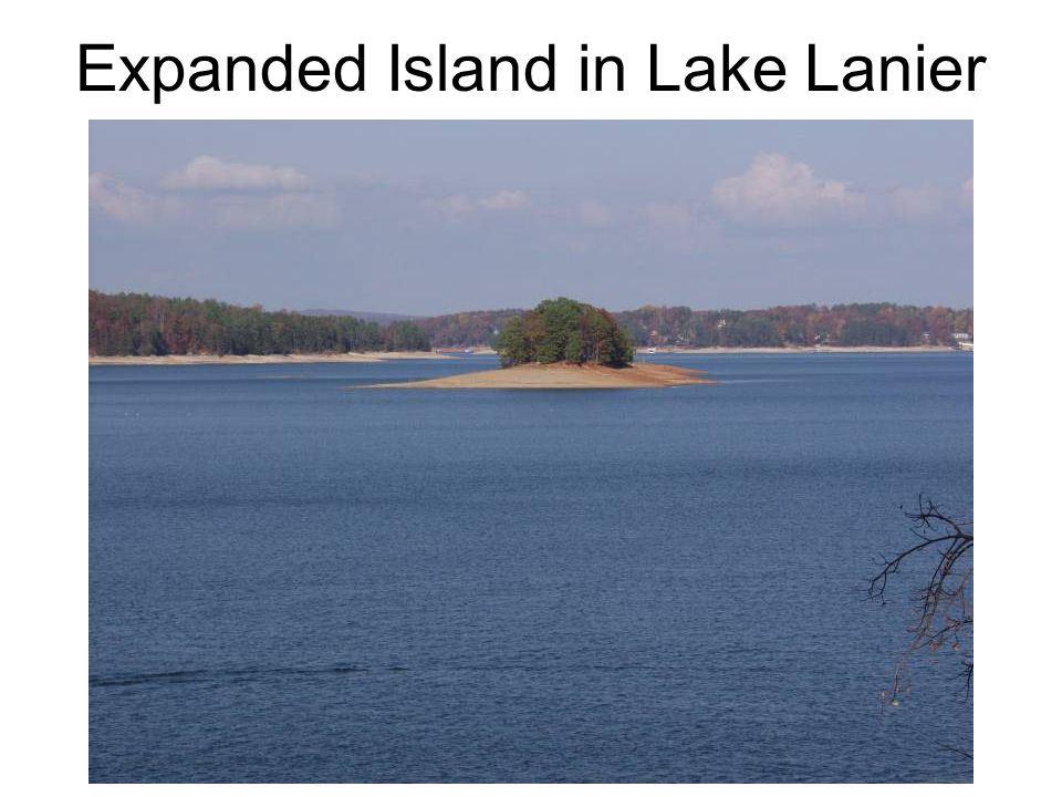 Expanded Island in Lake Lanier
