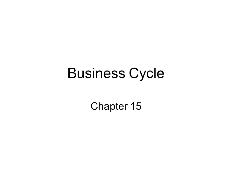 Business Cycle Chapter 15