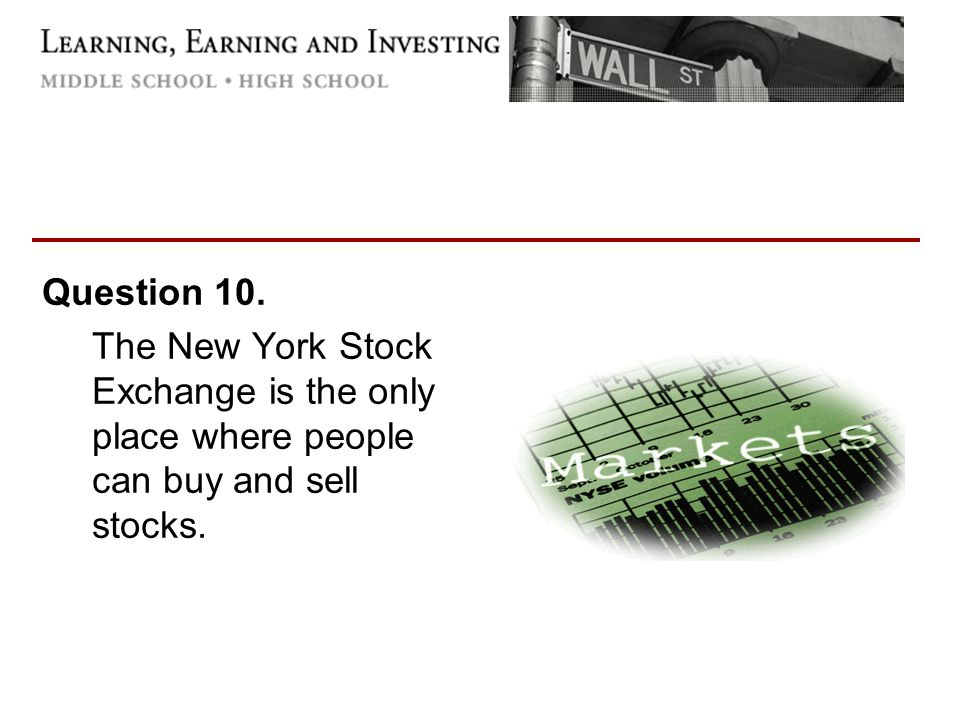 Question about Stocks?