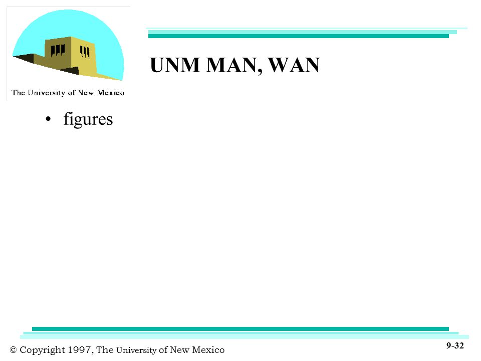 © Copyright 1997, The University of New Mexico 9-32 UNM MAN, WAN figures
