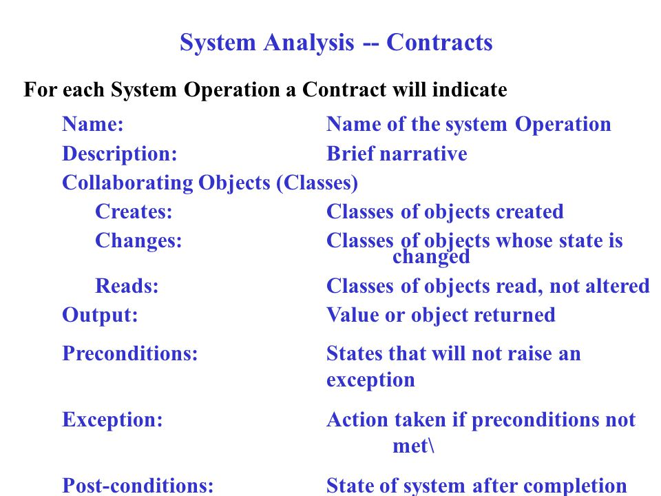 Introduction To Uml Part  Contents The Analysis Phase Steps Done