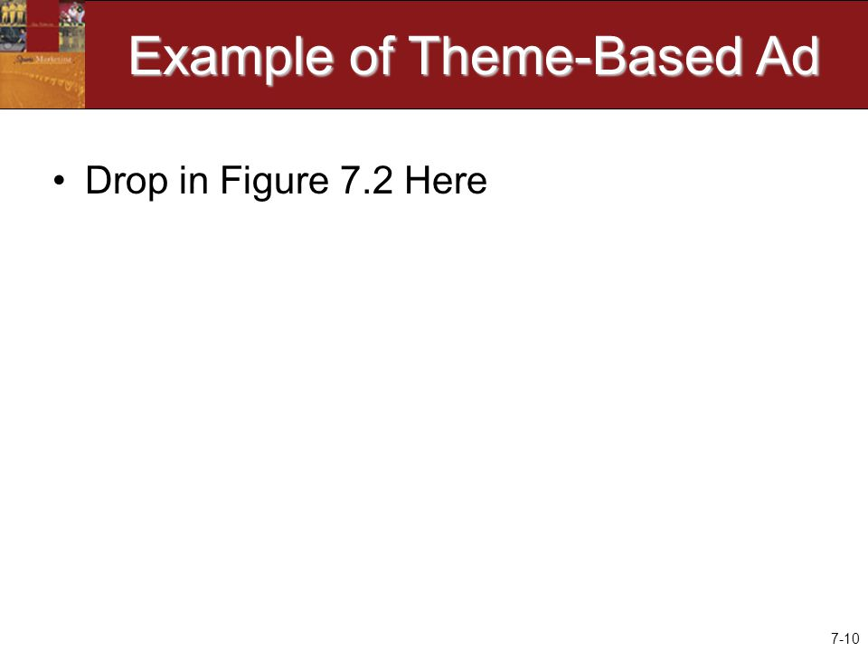 7-10 Example of Theme-Based Ad Drop in Figure 7.2 Here