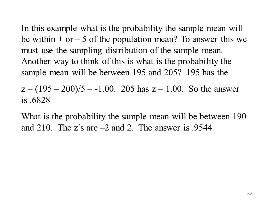 1 The Sample Mean rule Recall we learned a variable could have a ...