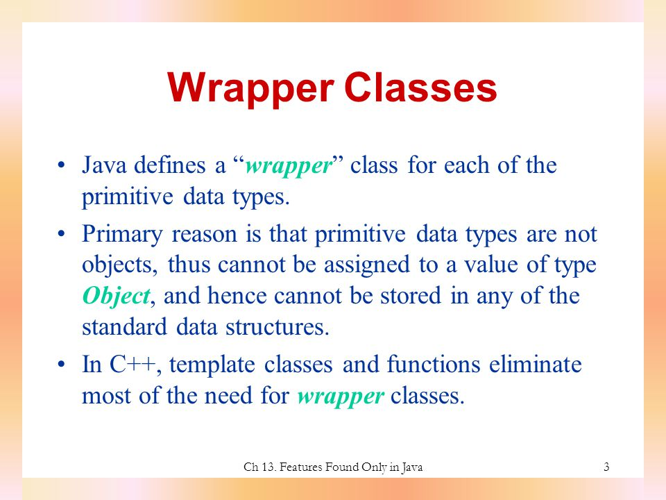ch 13. features found only in java timothy budd oregon state, Presentation templates