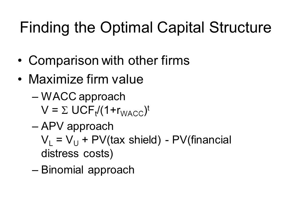 valuation apv vs wacc
