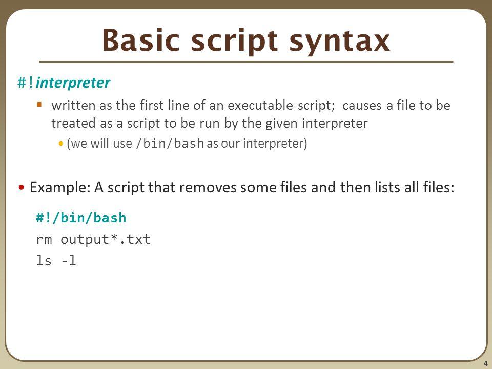 basics of script writing
