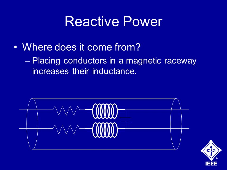 Reactive Power Where does it come from.