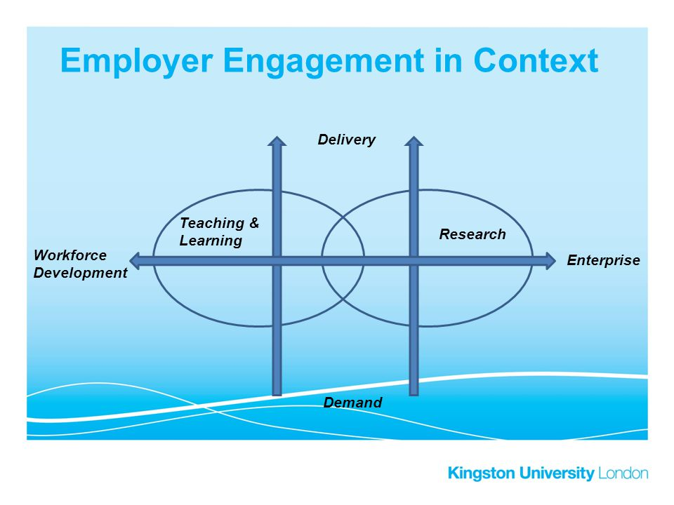 Employer Engagement in Context Research Teaching & Learning Workforce Development Enterprise Delivery Demand