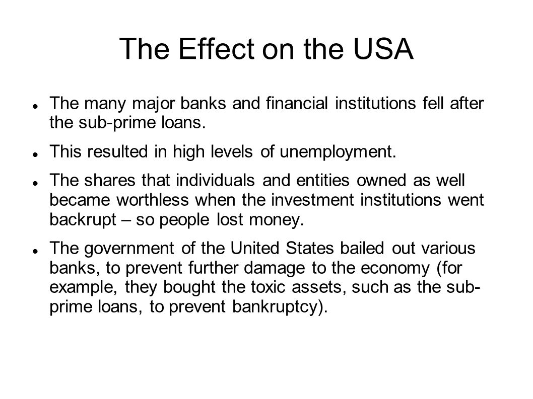 Strategies For Dealing With The Financial Crisis Ppt Download - Major banks in usa