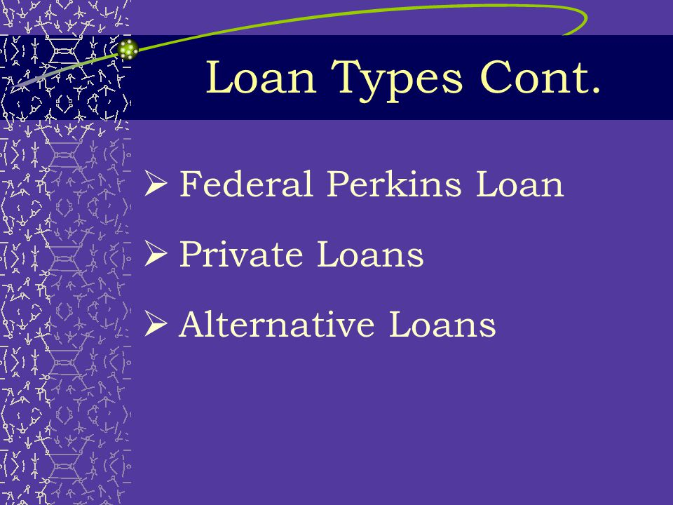 Loan Types  Subsidized Direct Loans  Unsubsidized Direct Loans  PLUS - Parent Loan for Undergraduate Students