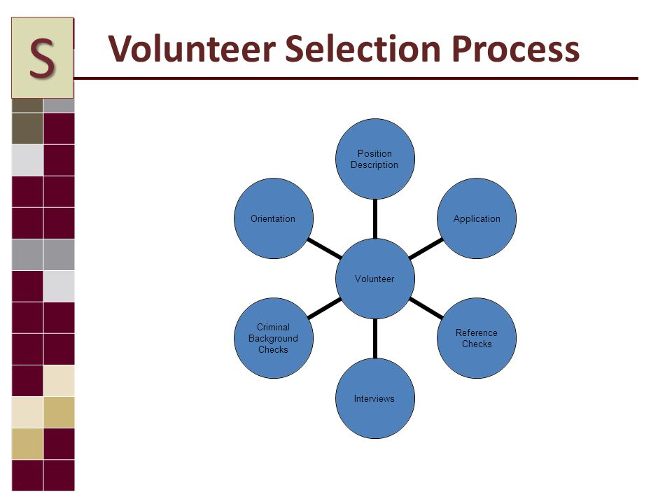 Volunteer Selection Process S
