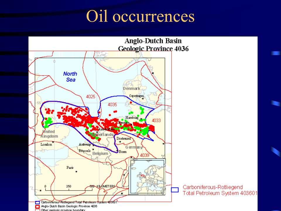 Oil occurrences