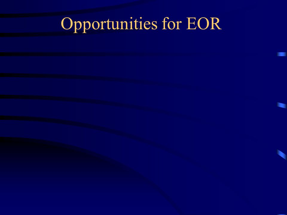 Opportunities for EOR