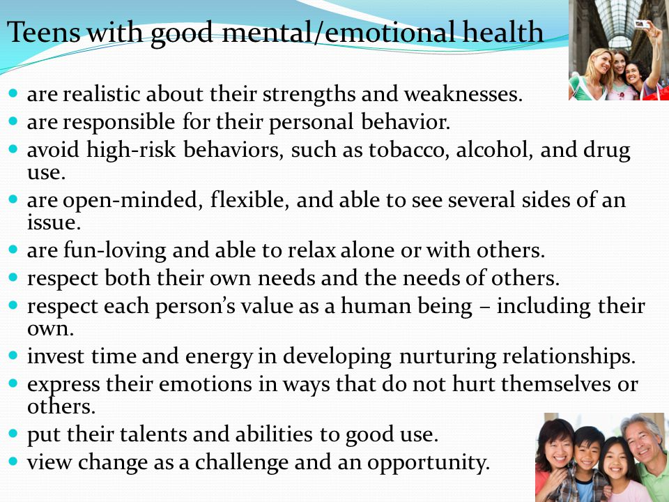 characteristics of a healthy person
