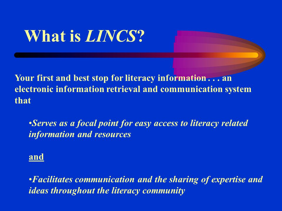Your first and best stop for literacy information...