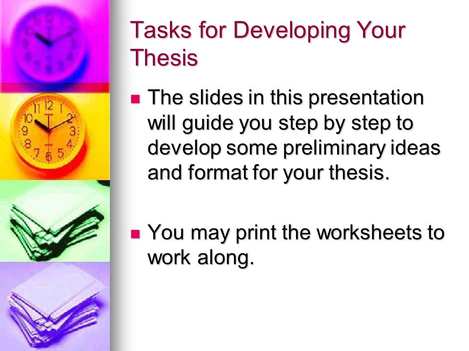 writing of a thesis