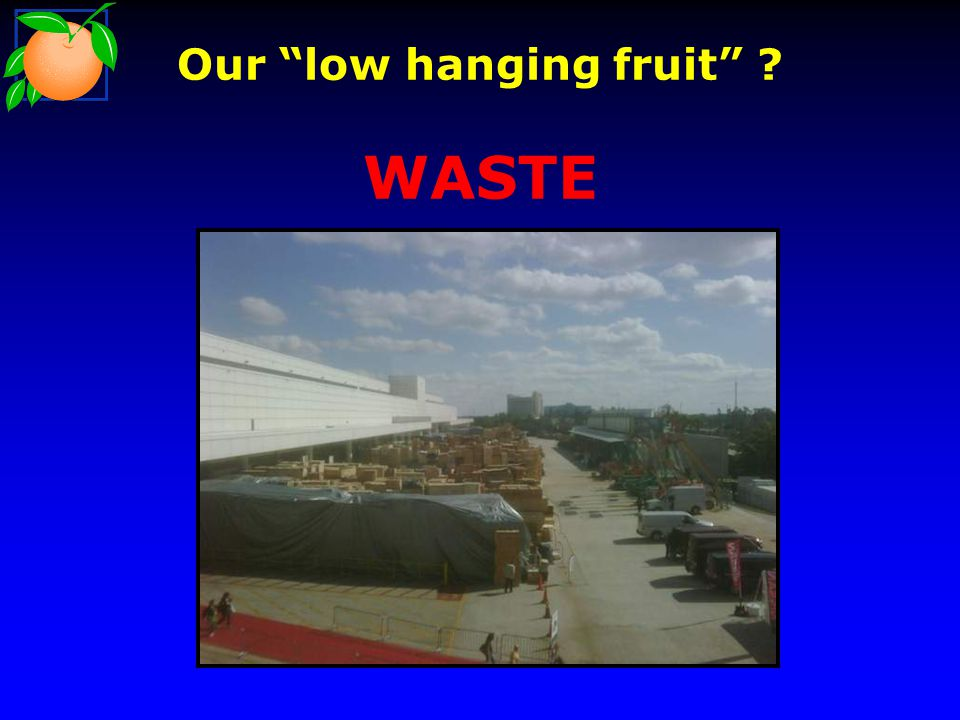 Our low hanging fruit WASTE