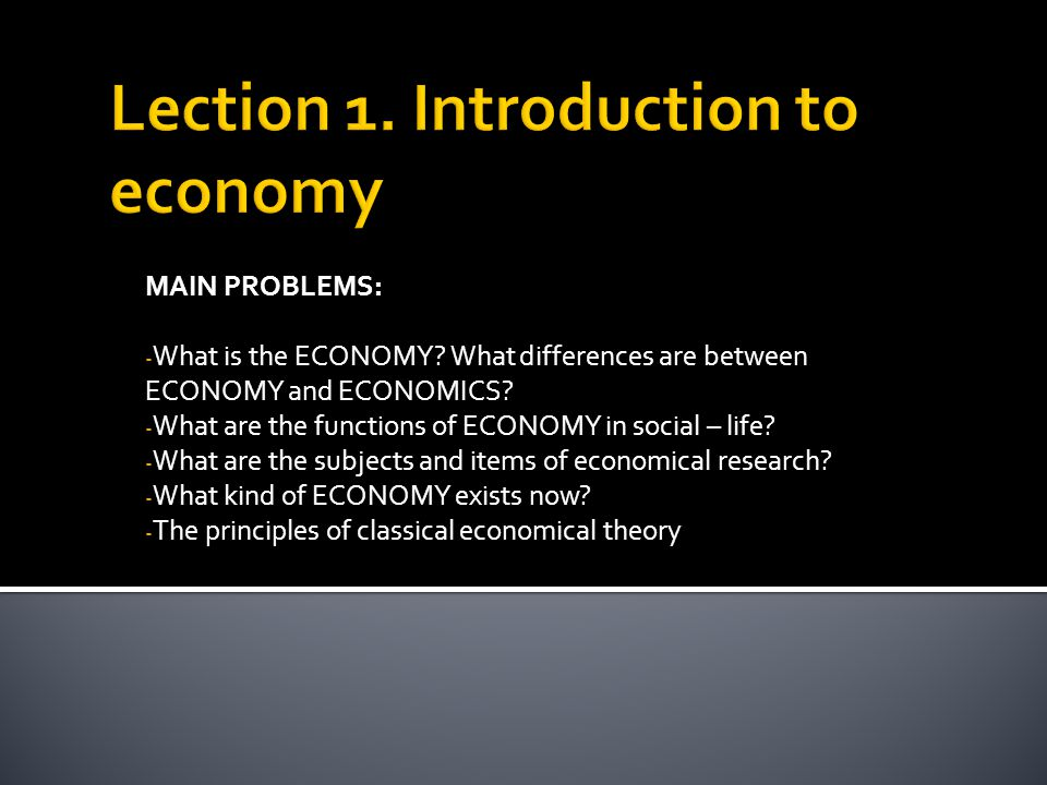 economic and social differences of the