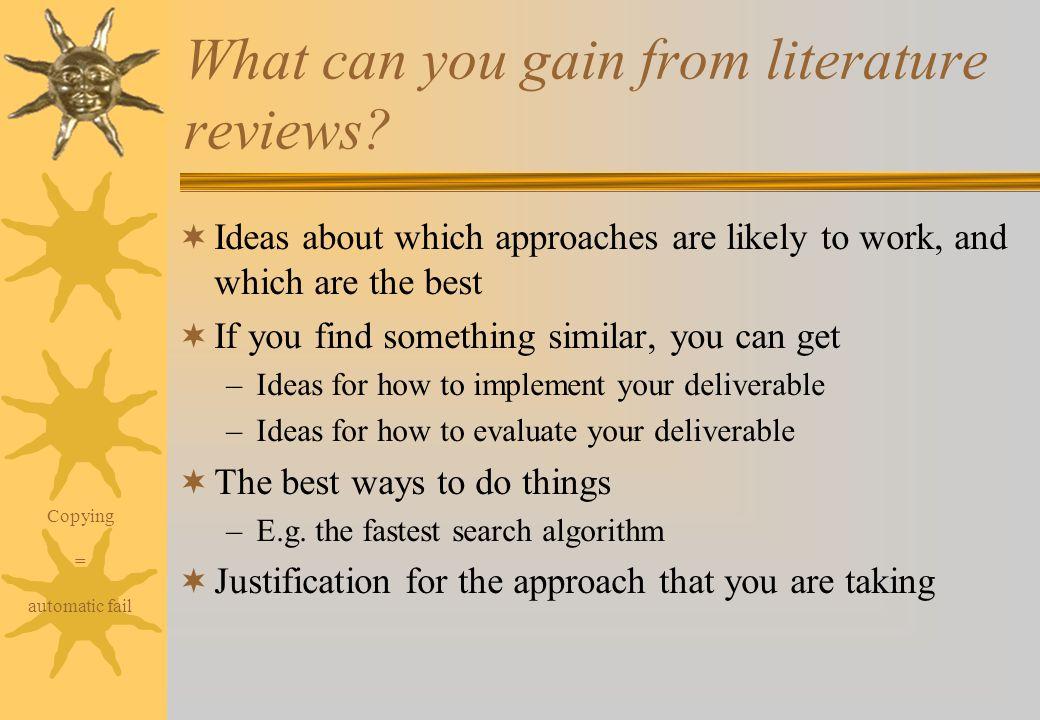 How do i do a literature review