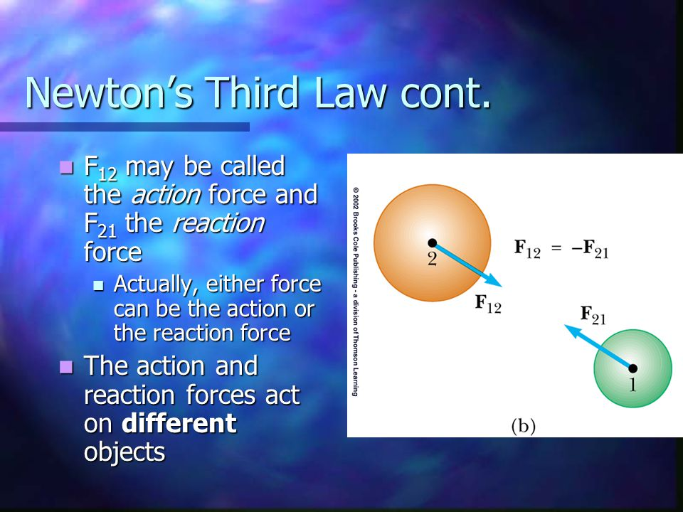 Newton's Third Law cont.