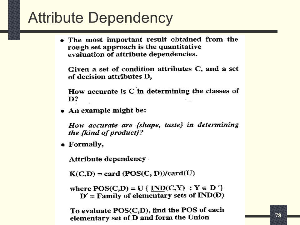 78 Attribute Dependency