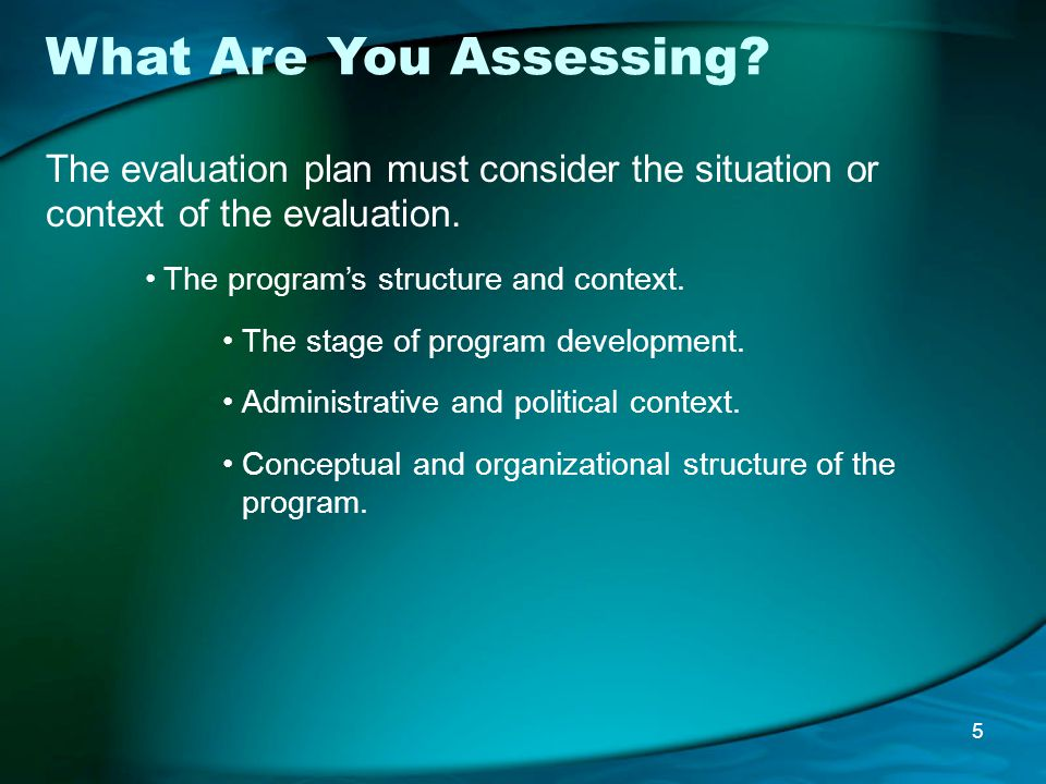 What Are You Assessing.