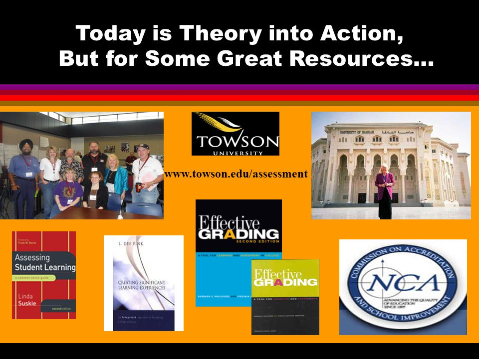 Today is Theory into Action, But for Some Great Resources…