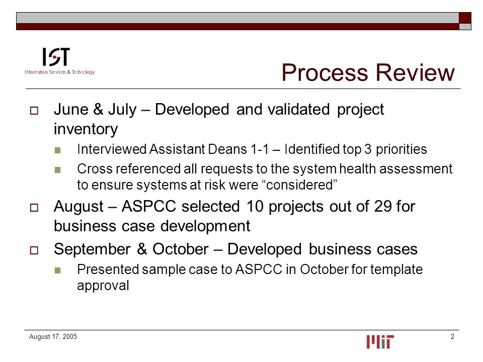Project Prioritization Process Aspcc Update December  Ppt Download