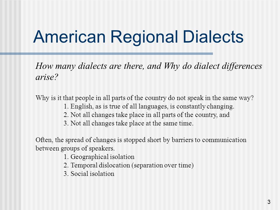 1 Today: Accents and Dialects of US English This hour: What is a ...