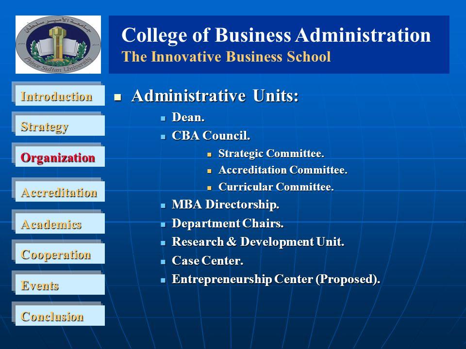 College of business development plan