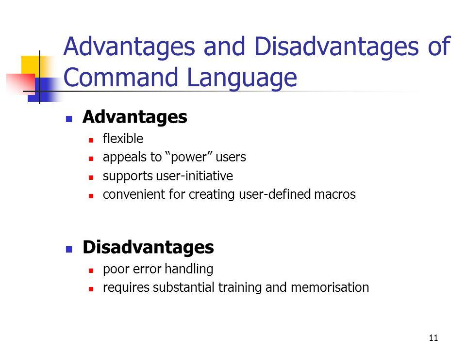 advantages and disadvantages of computer scripts